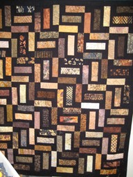 Brown & Black Batik Bricks